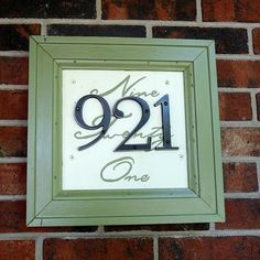 DIY House number! Awesome :)