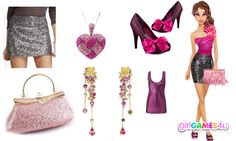 #Outfit of the week! Sparkling #glamour in black and #pink! ***  #Game's link: http://www.girlgames4u.com/black-_n-pink-beauty-makeover-game.html ✿ ✿ ✿