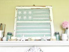 Our Prairie Home: Summery Window Flag {Tutorial}