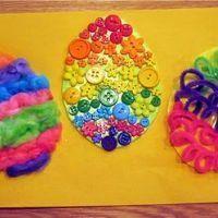 Textured Easter Egg Sensory Craft {Art Ideas}