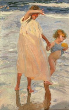 Joaquín Sorolla y Bastida Spanish, 1863-1923, Two Sisters, Valencia...my all time favorite painting