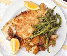 Golden Pan-fried Flounder. Whole flounder w/ crunchy roast potatoes ...