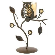 Gifts Decor Wise Owl Ornamental Vine Leaf