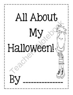 All About MyHalloween from Angie's  Page  For Young Learners on TeachersNotebook.com -  (4 pages)  - Halloween Booklet