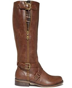 G by GUESS Women's Hertlez Tall Shaft Wide Calf Riding Boots - Boots - Shoes - Macy's
