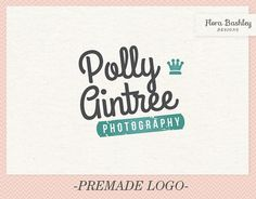 Custom Logo Design Premade Logo and Watermark by FloraBashley