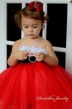 Red tutu Dress/ Red Toddler Tutu/ 12 months /18 months /24 months Flower Girl/Christmas red tutu/ Red tutu /Holiday tutu dress. $45.00, via Etsy.