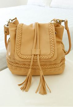 Leisure Retro Knit Fringed Purse