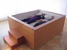 Sonic Bed - allows you to sink into your bed and fall into a trance like state listening to music or low base frequencies that flow trough your body