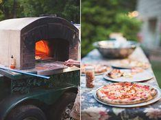 pizza brick oven on