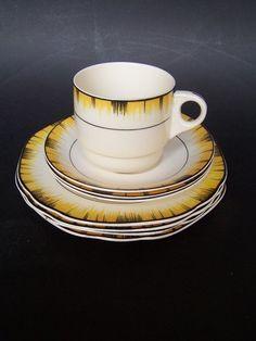 Part Brexton Pottery Picnic Set 4 Plates, 3 saucers, 1 cup | eBay