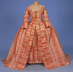 Robe a la Francaise, c. 1765.  Whitacre Auctions.