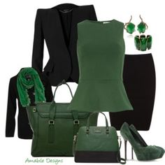 A touch of Emerald in your work wear