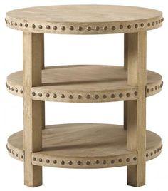 nailhead side table