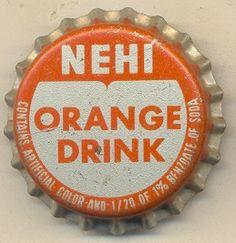 NEHI Orange Drink bottle cap bottle caps, drink bottl, outstand orang, outrag orang, orang drink, bottl cap, soda