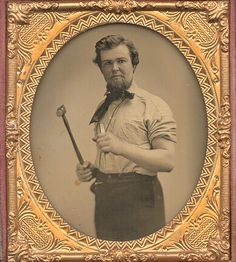 Occupation. Gent with Hammer and Chisel circa 1860s