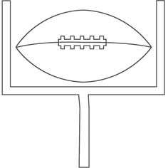 super bowl coloring page - use as handout in the library to advertise event