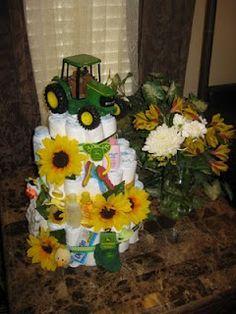 deer diaper, shower cakes, diaper cakes, baby shower john deere, flower