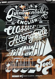 Window Illustration for Jam Jar by Ashley Willerton in Showcase of Creative Typography for October 2013