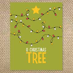 Outside - O Christmas Tree  Inside - happy holidays