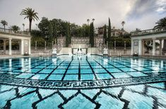 The Hearst Castle, the outdoor pool