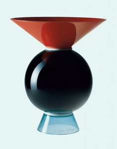 Yemen, Brown Glass Vase, Ettore Sottsass for Venini.