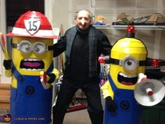 Gru and his Minions - Homemade Halloween Costumes