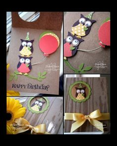 Happy Birthday OWL Card, PP103 by Studio M - Cards and Paper Crafts at Splitcoaststampers
