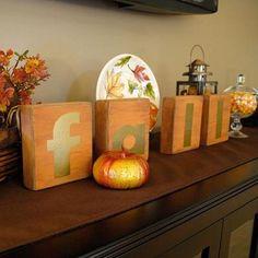 Fall Vignette (plus How to Make Decorative Block Letters!)
