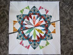 from blank pages...: Celestial Star QAL: JOIN WEDGES & CREATE A QUILT BLOCK