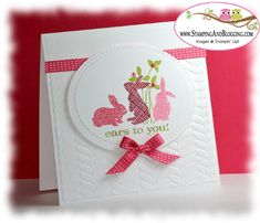 Ears to you - Masking technique by SandiMac - Cards and Paper Crafts at Splitcoaststampers