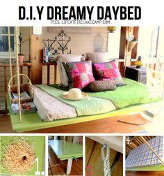 DIY dreamy daybed