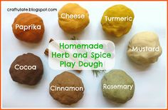 Craftulate: Homemade Herb and Spice Play Dough