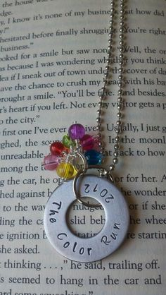 The Color Run 2012 necklace by McMakinDesigns on Etsy, $8.00