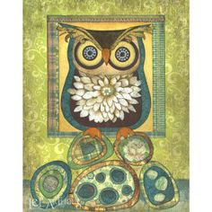 Limited Edition  Owl on Rocks Print 8x10 by leearthaus on Etsy, $20.00
