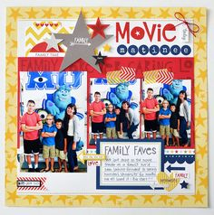 movie matinee | bella blvd... - Scrapbook.com  This favorite layout this week was created with products from Bella Blvd.