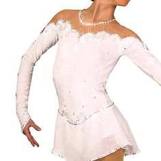 SO PRETTY♥  Halter Style Long Sleeve Flash Ice Skating Dress – USD $ 156.99