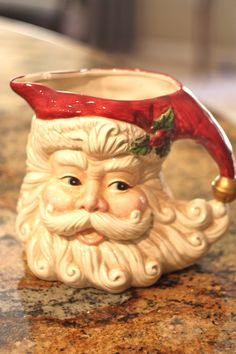 #Vintage Santa/Old Nick water pitcher from #Goodwill, Christmas in July promo. $2.50 #Christmas #Holiday #santa