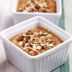 Find all your favorite flavors of pumpkin pie in this Pumpkin Bourbon Pudding. More pumpkin desserts: http://www.bhg.com/thanksgiving/recipes/luscious-pumpkin-desserts/?socsrc=bhgpin100313pumpkinpudding&page=33