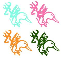 Deer, Fish, and Duck Combo Vinyl Car Decal