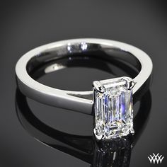Custom Solitaire Engagement Ring | 30802 Love the emerald cut!