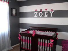 crib bedding, babi idea, bed set, babi room, set fuchsia