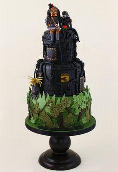 alien-vs-predator-cake-1.jpg cherri, geek, cake wrecks, predat, wedding cakes, alien, themed weddings, blog, black