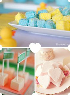Cómo colocar las nubes en tus mesas de dulces, de blog.fiestafacil.com / How to serve marshmallows at your sweet table