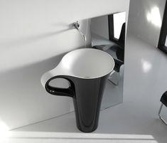 Black Coffee Cup Basin Unique Bathrooms