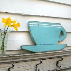 Coffee Cup Sign Wood Kitchen Sign Distressed by SlippinSouthern, $49.00