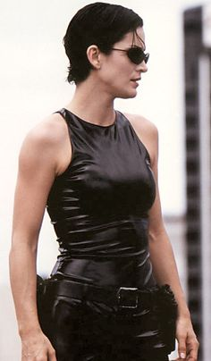 Carrie-Ann Moss as Trinity in 'The Matrix'.