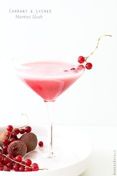 Currant and Cranberry Holiday Martini