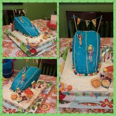 Pool Party Slide cake for Jamie's 12th birthday.