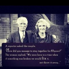 My parents have been a wonderful example of this.
